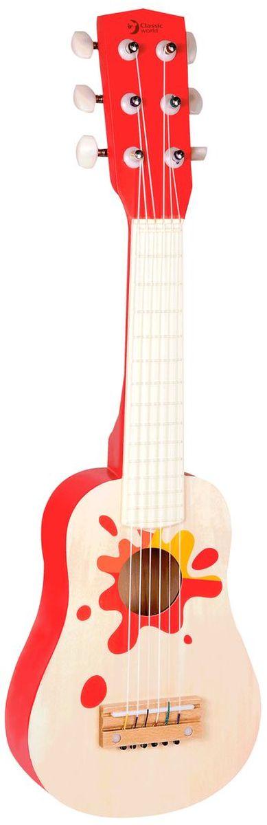 Classic World Гитара Гавайи4015Гитара - главный инструмент маленького артиста! Ребёнок сможет придумывать самостоятельно захватывающие музыкальные композиции, что прекрасно способствует развитию творческого мышления. Игра на музыкальных инструментах прекрасно развивает музыкальный интеллект, чувство такта и ритма. Оптимальный размер гитары идеально подойдёт для малышей и детей постарше. Бери гитару в руки, исполняй зажигательные композиции и танцуй! Игрушка выполнена из высококачественных материалов, а значит вы будете уверены в безопасности вашего ребёнка.