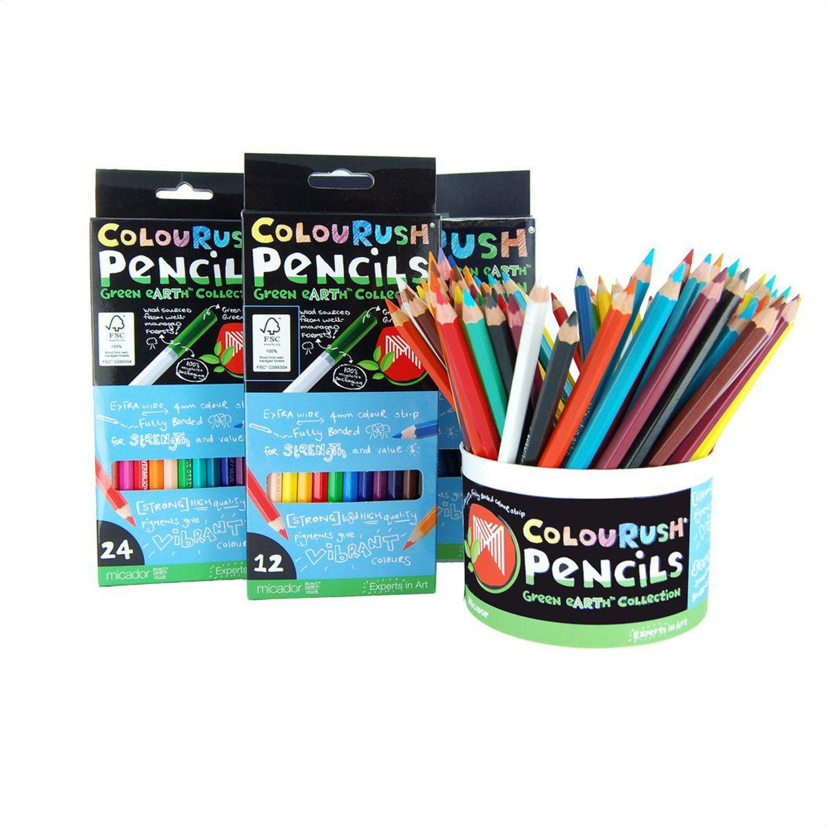 Micador Цветные эко-карандаши 24 цветаFPLMP24Цветные эко-карандаши Micador не оставят равнодушным ни одного ребенка. Многообразие ярких и насыщенных цветов, есть даже золотой, серебряный и телесный цвета! Благодаря высокому качеству древесной оболочки, обеспечивается ровное и гладкое затачивание что исключает покупать все новые и новые карандаши. Грифель имеет больший диаметр (4 мм), чем обычно, что позволит не так часто затачивать карандаши, а также позволяет намного быстрее и без дополнительных усилий разукрашивать большие рисунки. Карандаши не крошатся при рисовании, не трескаются при падении, легко затачиваются. Не содержат токсических веществ, полностью безопасны для маленьких детей. Изготовлены с использованием солнечной энергии, полностью перерабатываемая упаковка. Сделаны с любовью к природе и детству! Рисование развивает творческие способности, воображение, логику, память, мышление. Пусть мир вашего ребенка будет ярким и безопасным! Австралийский бренд Micador - эксперт в товарах для...