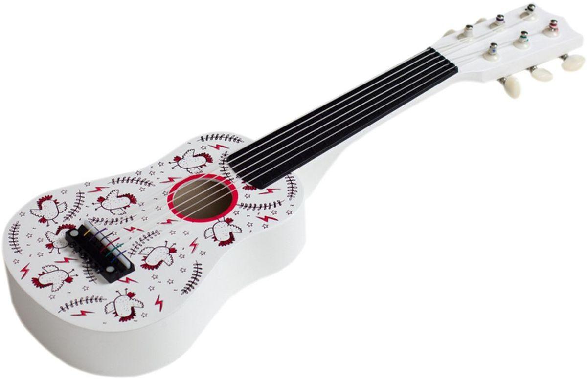 Kids4Kids Музыкальная игрушка Гитара Волшебные нотыHY20001Гитара - беспроигрышный подарок для музыкального малыша. Подарите ребёнку красочную и занимательную гитару, и он пригласит вас на настоящую вечеринку. Деревянная гитара с настраиваемыми нейлоновыми струнами, как на настоящем взрослом инструменте, отличается поразительно реалистичным и чистым звучанием. Гитара отлично развивает творческие способности и музыкальный интеллект ребёнка, ведь он сможет придумывать мелодии самостоятельно, следуя лишь своему воображению. Игра на гитаре способствует развитию мелкой моторики. Яркая расцветка инструмента привлекает внимание и поднимает настроение. Игрушка, разработанная самыми лучшими российскими дизайнерами, имеет очень приятную и гладкую поверхность. При желании ее можно раскрасить фломастерами или красками. Игрушка изготовлена из высококачественных натуральных материалов.