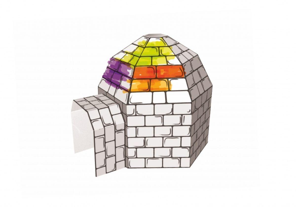 Kids4Kids Картонный домик для раскрашивания Пещера
