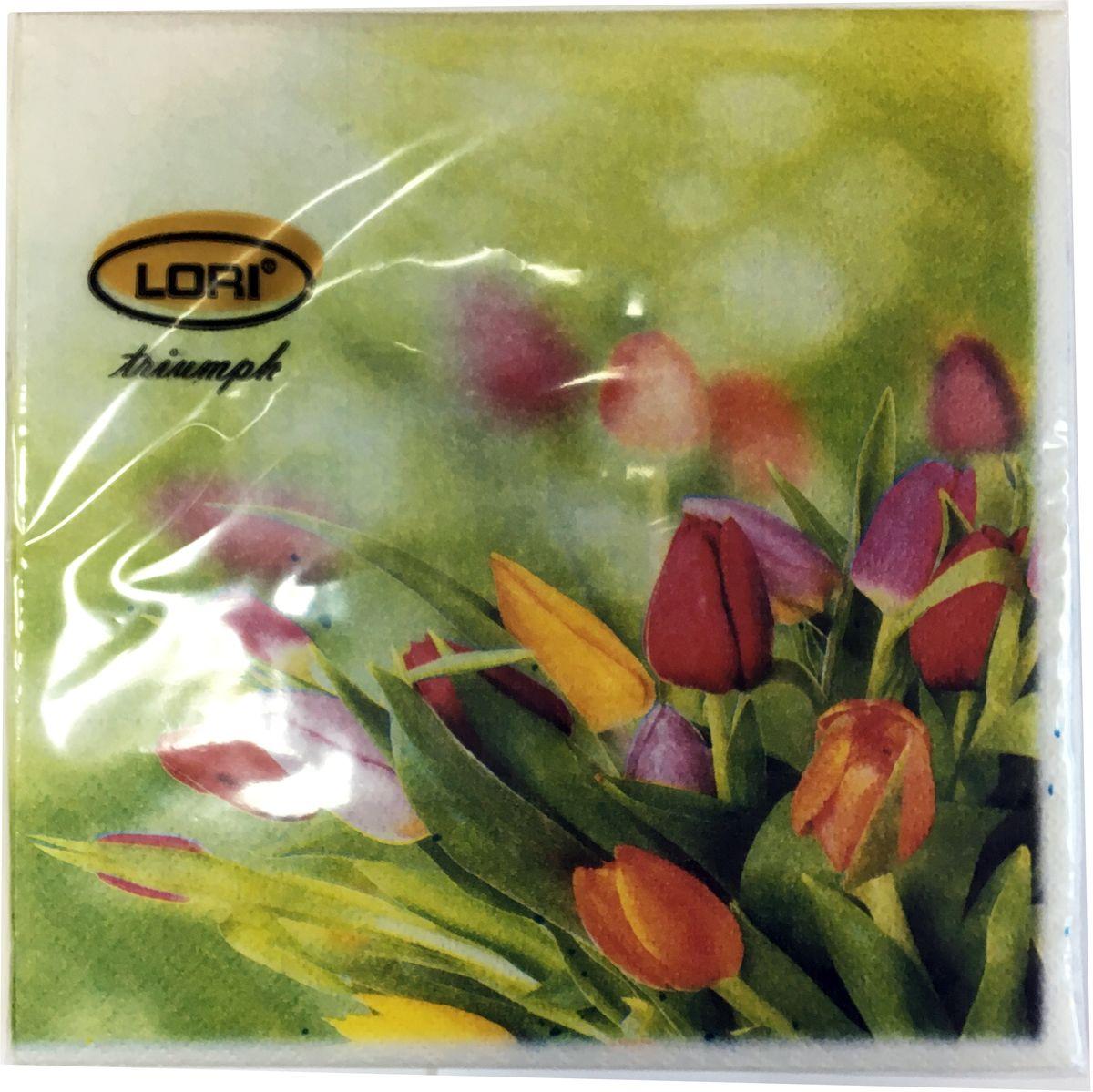 Салфетки бумажные Lori Triumph, трехслойные, цвет: зеленый, желтый, красный, 33 х 33 см, 20 шт. 5661056610Декоративные трехслойные салфетки Lori Triumph выполнены из 100% целлюлозы и оформлены ярким рисунком. Изделия станут отличным дополнением любого праздничного стола. Они отличаются необычной мягкостью, прочностью и оригинальностью. Размер салфеток в развернутом виде: 33 х 33 см.