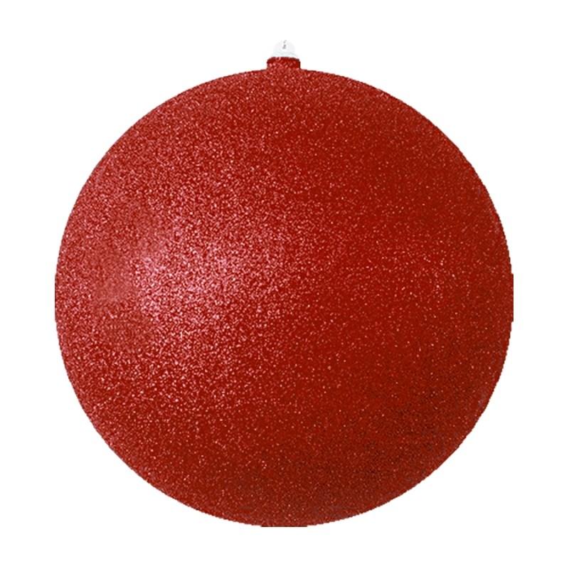 Украшение новогоднее подвесное Neon-Night Шарик, цвет: красный, 25 см502-142Елочная фигура Шарик, 25 см, из пластика, цвет красный с блестками