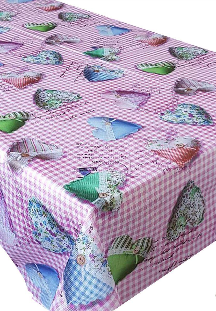 Скатерть Ambesonne Разноцветные сердца на розовом фоне, прямоугольная, 150 x 220 смBM1506MERRYPEMBE_AВеликолепная скатерть Ambesonne, выполненная из полиэстера, создаст атмосферу уюта и домашнего тепла в интерьере вашей кухни. В современном мире кухня - это не просто помещение для приготовления и приема пищи. Это особое место, где собирается вся семья и царит душевная атмосфера.