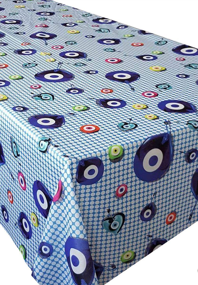 Скатерть Ambesonne Амулеты на голубом фоне, прямоугольная, 150 x 220 смBM1509NAZARMAVI_AКрасочная фотоскатерть Ambesonne Амулеты на голубом фоне выполнена из тканевого полиэстера и украшена оригинальным рисунком. Изделие создаст атмосферу уюта и домашнего тепла в интерьере вашей кухни. В современном мире кухня - это не просто помещение для приготовления и приема пищи. Это особое место, где собирается вся семья и царит душевная атмосфера.
