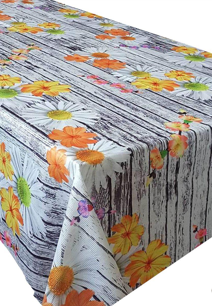 Скатерть Ambesonne Цветы на деревянном столе, прямоугольная, 150 x 220 смBM1526DAISYTAS_AКрасочная фотоскатерть Ambesonne Цветы на деревянном столе выполнена из тканевого полиэстера и украшена оригинальным рисунком. Изделие создаст атмосферу уюта и домашнего тепла в интерьере вашей кухни. В современном мире кухня - это не просто помещение для приготовления и приема пищи. Это особое место, где собирается вся семья и царит душевная атмосфера.