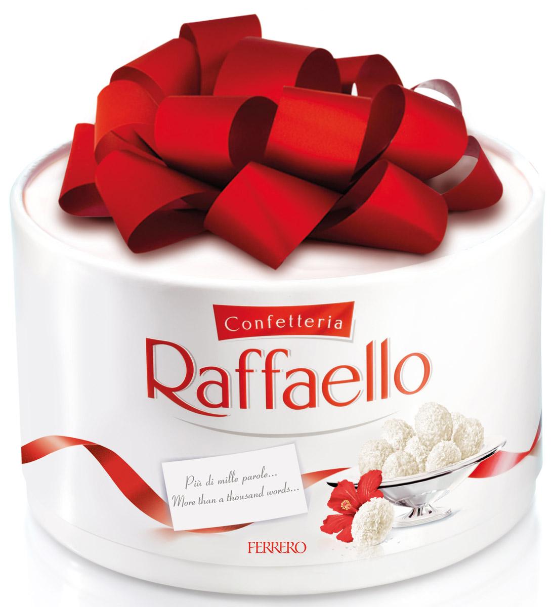 Raffaello конфеты с цельным миндальным орехом в кокосовой обсыпке, 600 г77115583/77098326/77085047Конфеты Раффаэлло с цельным миндальным орехом в кокосовой обсыпке.