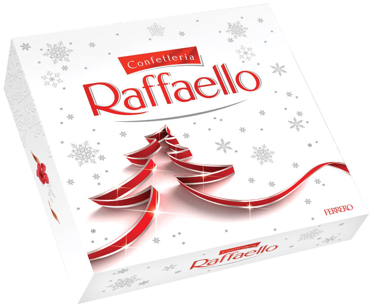 Raffaello конфеты с цельным миндальным орехом в кокосовой обсыпке, 240 г77115555/77098251/77070961Конфеты Раффаэлло с цельным миндальным орехом в кокосовой обсыпке.