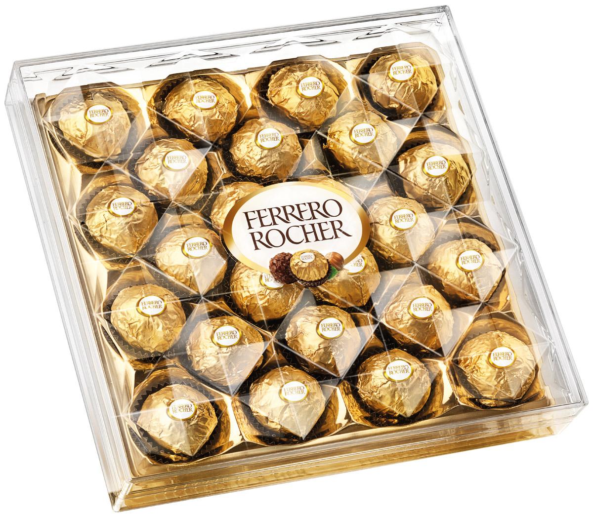 Отборный цельный лесной орех в окружении молочного шоколада и нежного орехового крема, заключенные в хрустящую вафельную оболочку, покрытую шоколадно-ореховой крошкой.