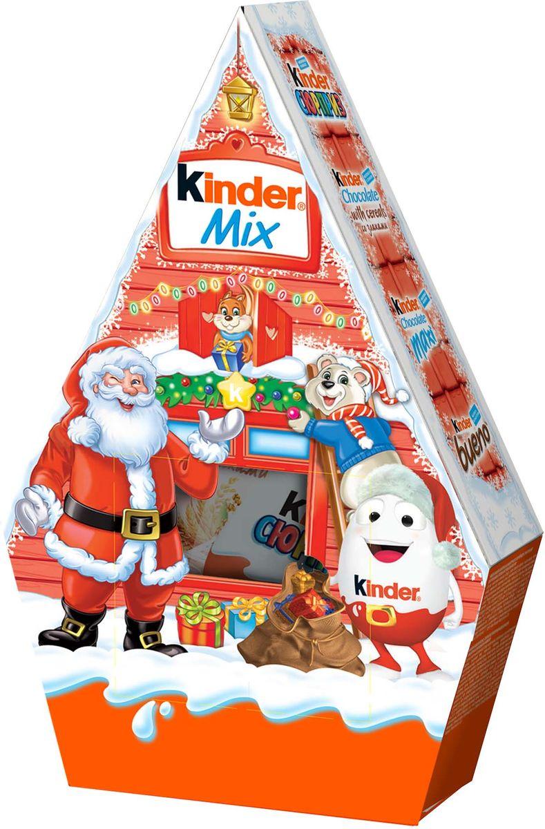 Kinder Mix набор: Kinder Surprise, Kinder Chocolate со злаками, Kinder Chocolate Maxi, Kinder Chocolate (50 г), Kinder Bueno, 199 г