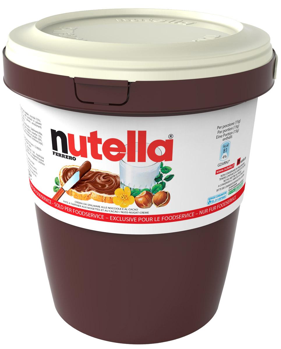 Nutella паста ореховая с добавлением какао, 3 кг