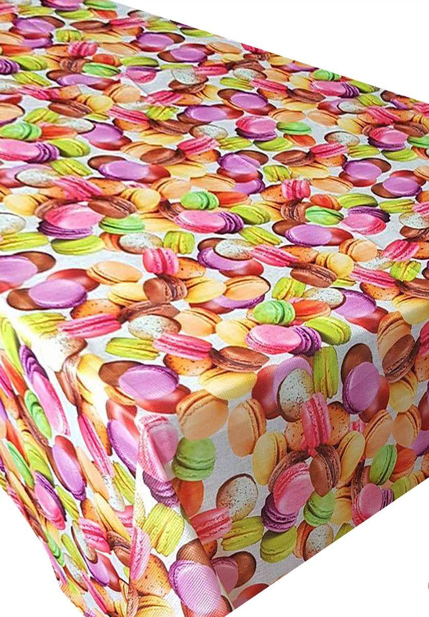 Скатерть Ambesonne Французские пирожные, квадратная, 150 x 150 смBD1546SUGAR_AВеликолепная скатерть Ambesonne, выполненная из полиэстера, создаст атмосферу уюта и домашнего тепла в интерьере вашей кухни. В современном мире кухня - это не просто помещение для приготовления и приема пищи. Это особое место, где собирается вся семья и царит душевная атмосфера.