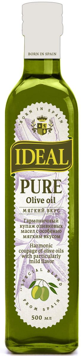 Ideal Pure масло оливковое, 0,5 л8424536921318Каждая хозяйка знает, что в кулинарии важна любая мелочь для создания идеальной композиции вкусовых оттенков. Именно поэтому многие выбирают масло IDEAL Pure, будучи уверенными, что в каждой бутылке всегда один и тот же вкус, состав, консистенция, наивысшие показатели качества.
