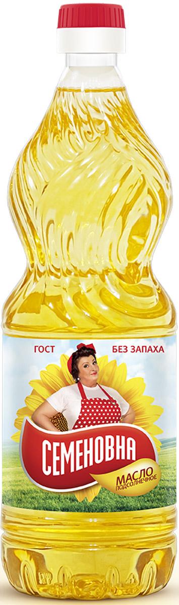 Семеновна масло подсолнечное рафинированное, 0,9 л