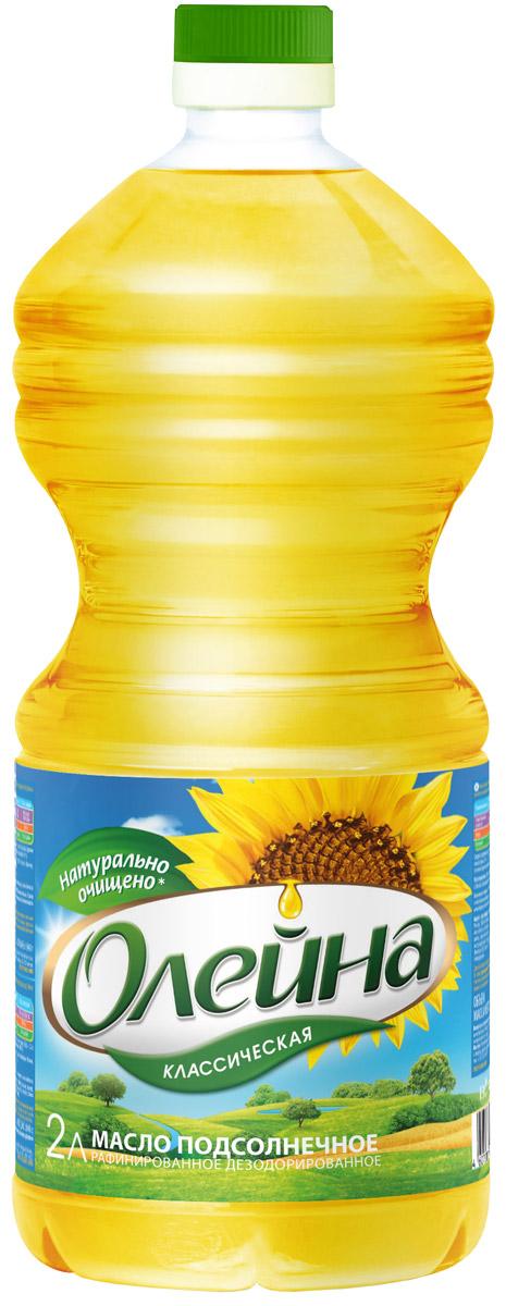 Олейна масло подсолнечное рафинированное, 2 л