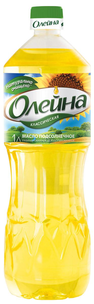 Олейна масло подсолнечное рафинированное, 1 л