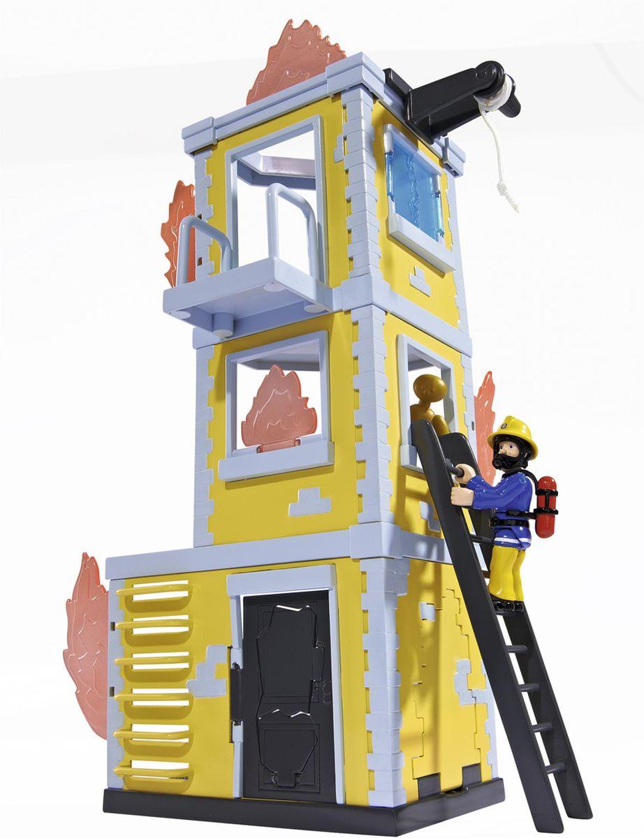 Dickie Toys Пожарный Сэм Большая тренировочная база 42 см9251053Большая тренировочная база с фигуркой от компании Simba - это невероятный игровой набор из серии Пожарный Сэм, который создавали основываясь на знаменитом мультсериале, который смотрят и любят дети по всему миру. Суть игры в том, чтобы, используя фигурку пожарного Сэма, потушить все очаги возгорания и спасти манекен, который находится на самом верху пламенеющего здания.