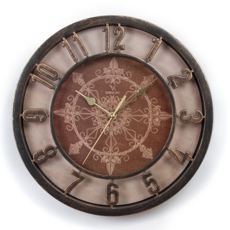 Часы настенные Вега Ажур, цвет: бронзаН0199