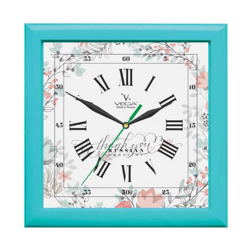 Часы настенные Вега БирюзаП3-16-127
