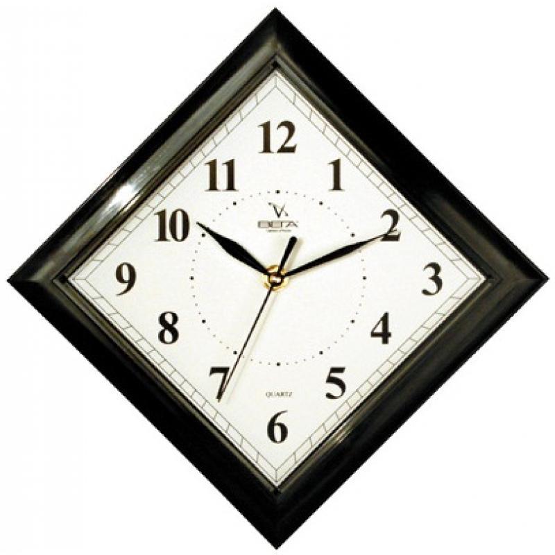 Часы настенные Вега Классика. Ромб в черном, цвет: ромбП3-6-51