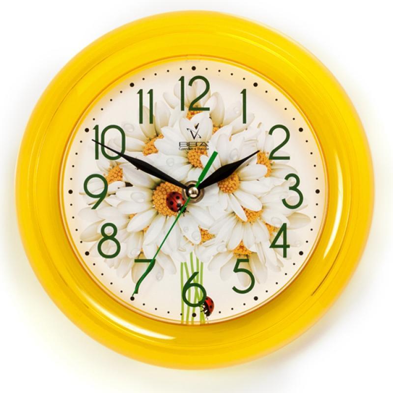 Часы настенные Вега РомашкиП6-2-108