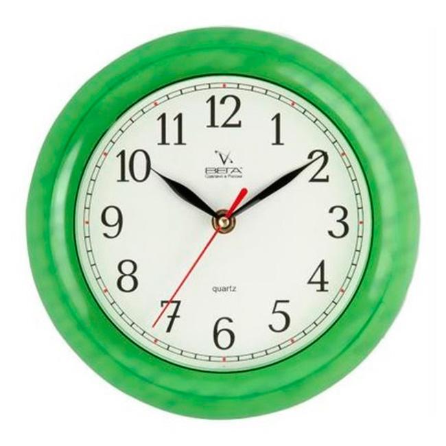 Часы настенные Вега Классика, цвет: зеленыйП6-3-98