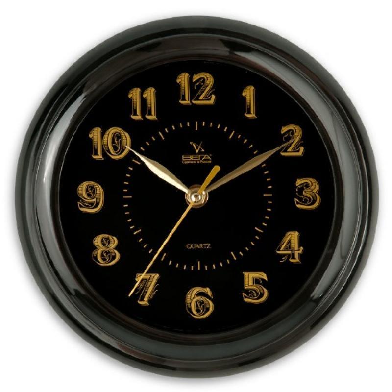 Часы настенные Вега Классика, цвет: черныйП6-6-100