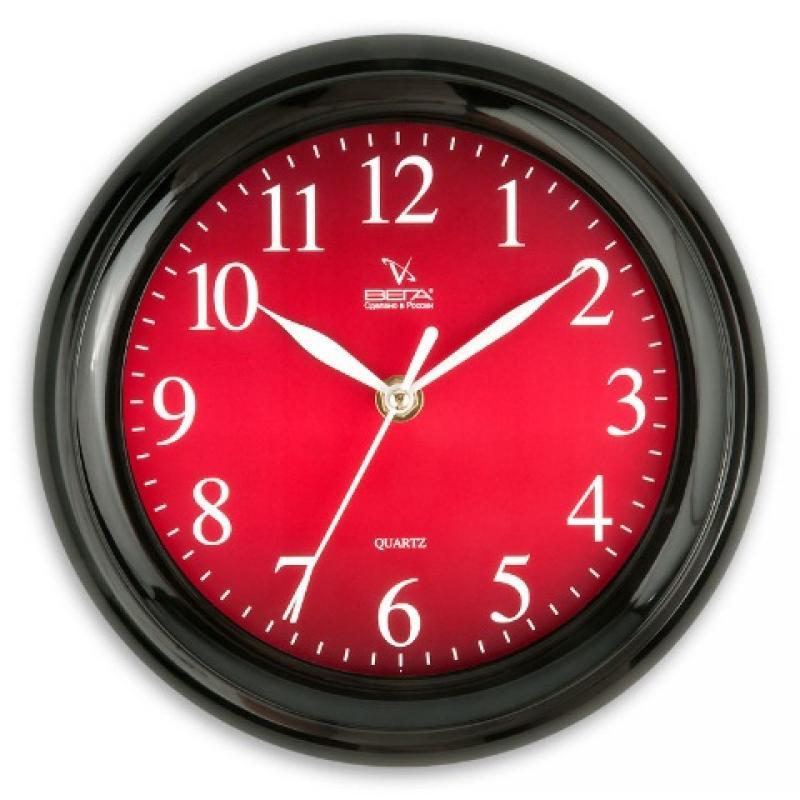 Часы настенные Вега Классика бордовая, цвет: черныйП6-6-55