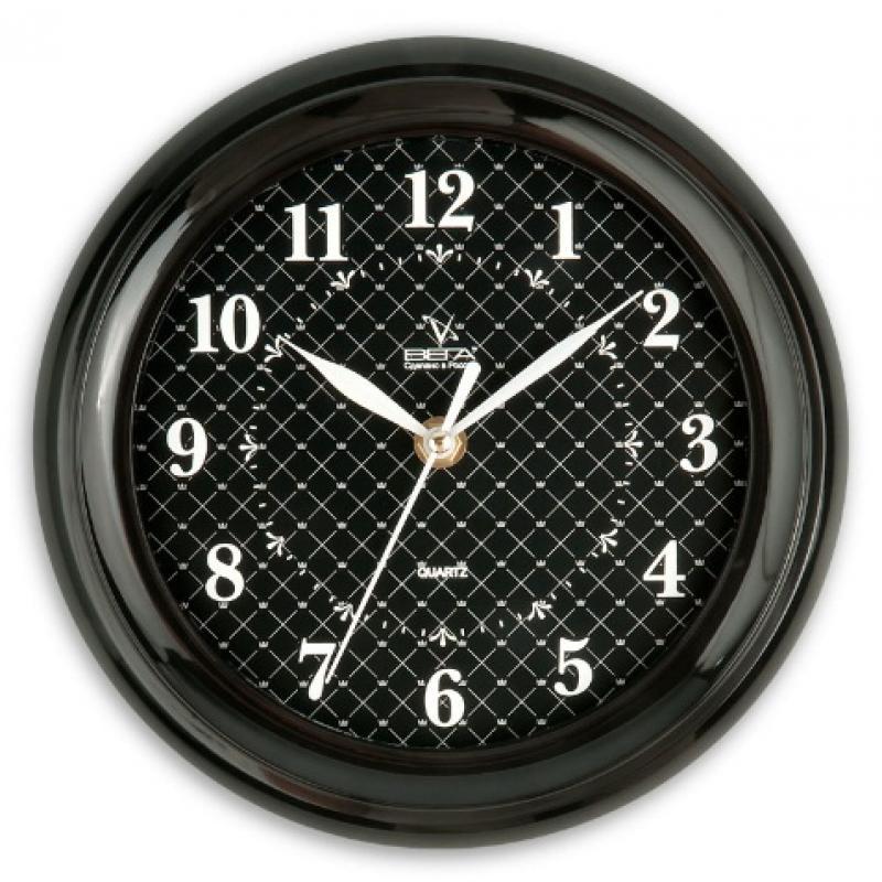 Часы настенные Вега Классика. Черная клеткаП6-6-93