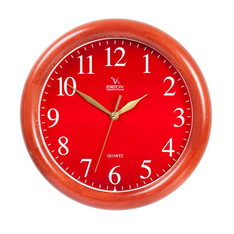 Часы настенные Вега Классика, цвет: бордовый. Д1КД/7-55Д1КД/7-55