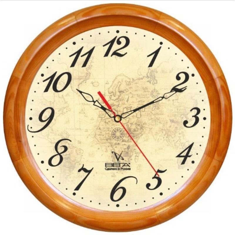 Часы настенные Вега Карта. Д1НД/7-97Д1НД/7-97