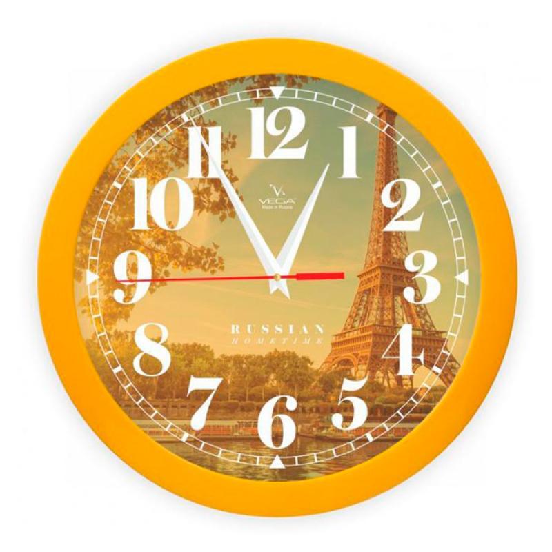 Часы настенные Вега Осенний ПарижП1-2/7-291