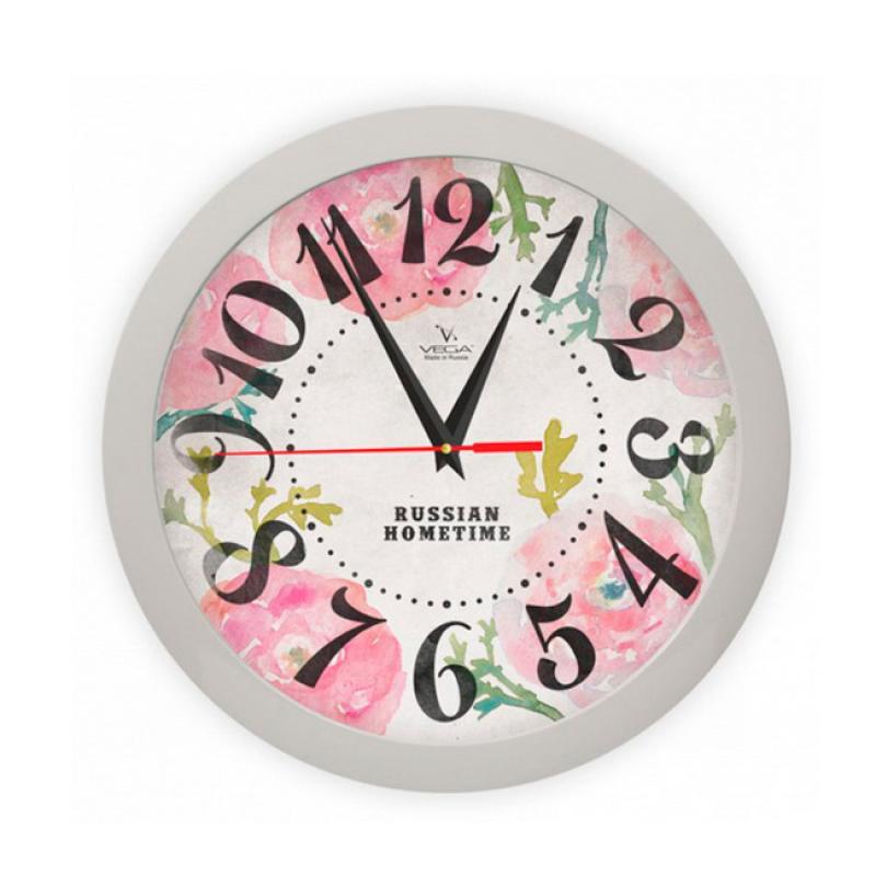 Часы настенные Вега Розовые макиП1-5/7-269