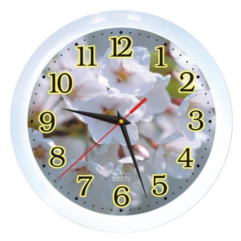 Часы настенные Вега Цветы яблониП1-7/7-3