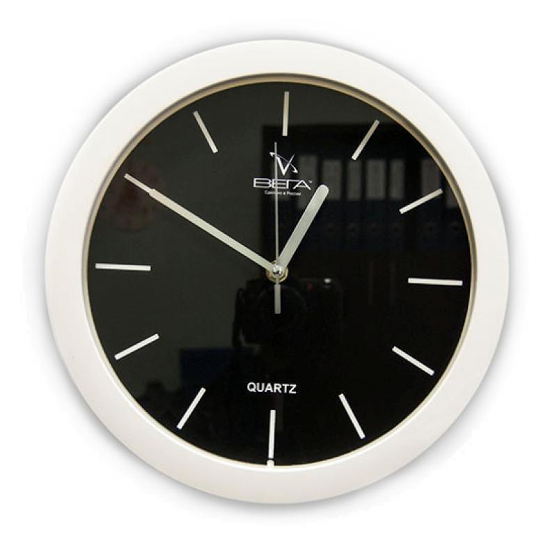 Часы настенные Вега Белые риски, цвет: белыйП1-7/7-23