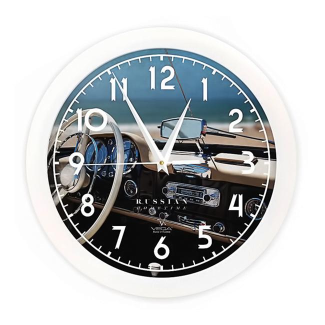 Часы настенные Вега Белый рульП1-7/7-296