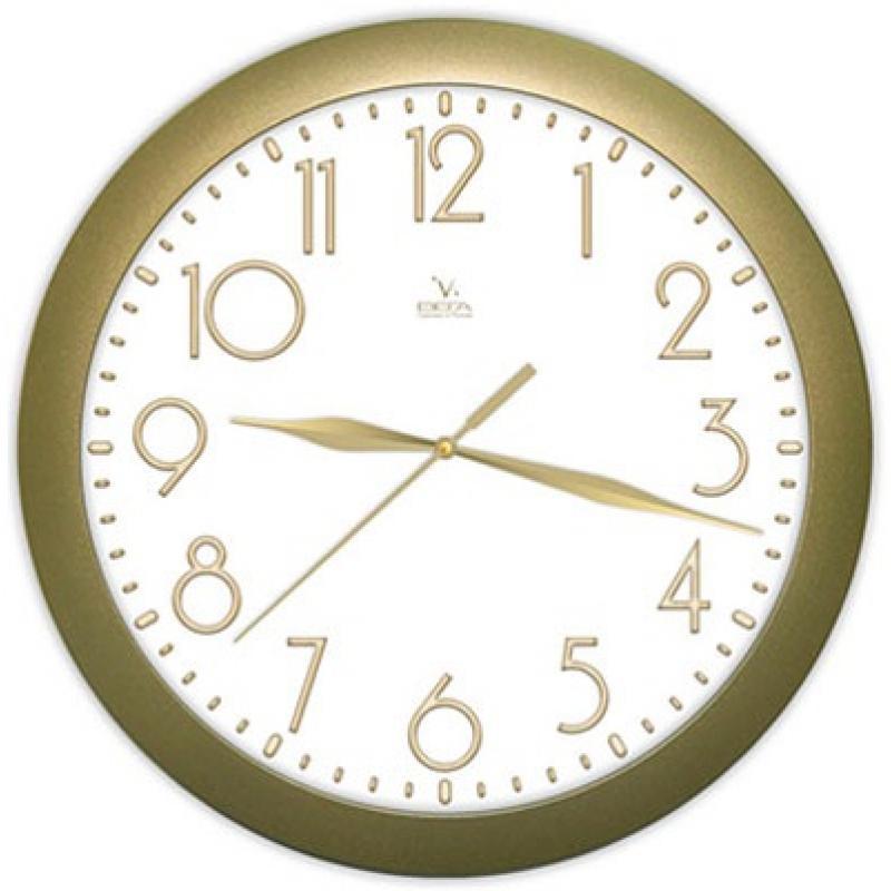 Часы настенные Вега Классика золотаяП1-8/7-215