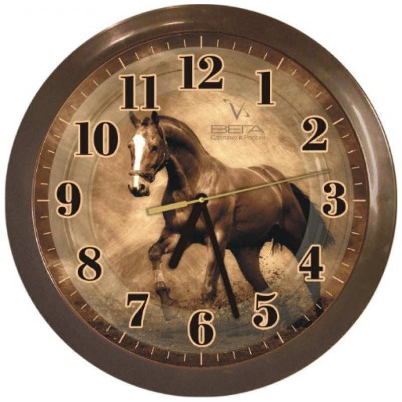 Часы настенные Вега ЛошадьП1-9/6-186