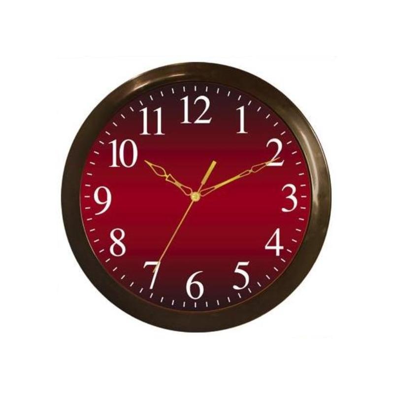 Часы настенные Вега Классика, цвет: бордовый. П1-9/7-55П1-9/7-55