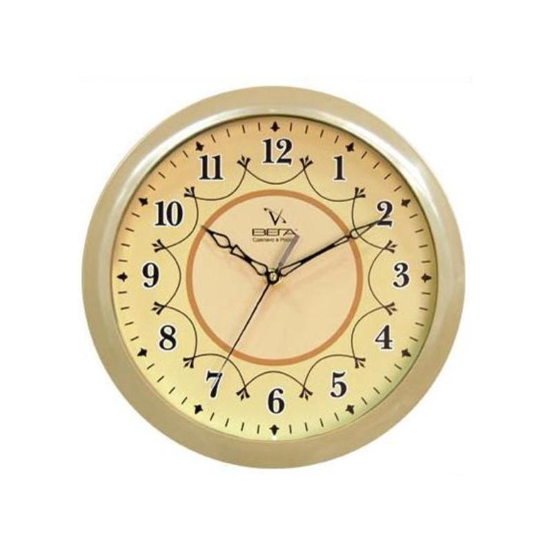Часы настенные Вега Классика, цвет: бежевый. П1-14/7-12П1-14/7-12