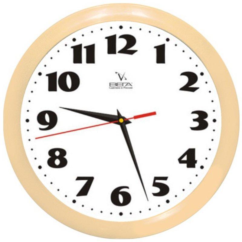 Часы настенные Вега Классика, цвет: бежевый. П1-14/7-45П1-14/7-45