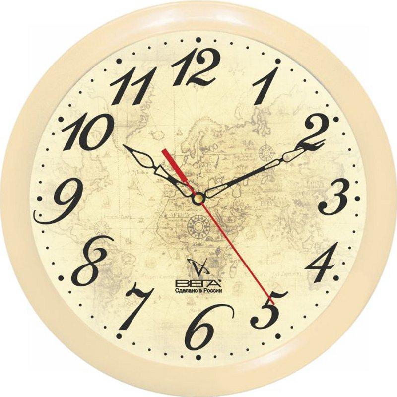 Часы настенные Вега Классика, цвет: бежевый. П1-14/7-97П1-14/7-97