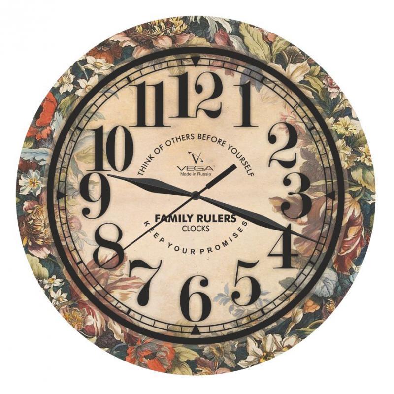 Часы настенные Вега ЭллегияП1-241/6-241