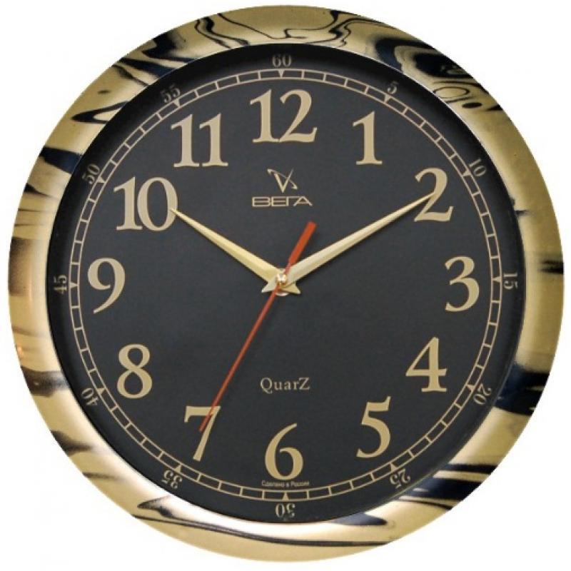 Часы настенные Вега Классика, цвет: черный. П1-681/6-17П1-681/6-17