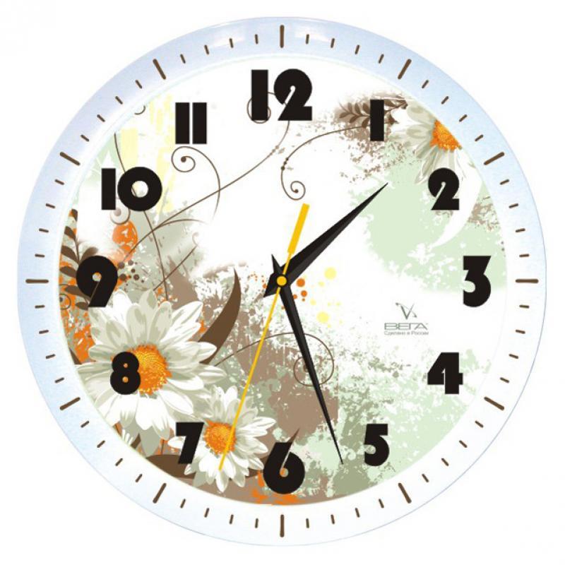 Часы настенные Вега Ромашковое настроениеП1-798/7-49