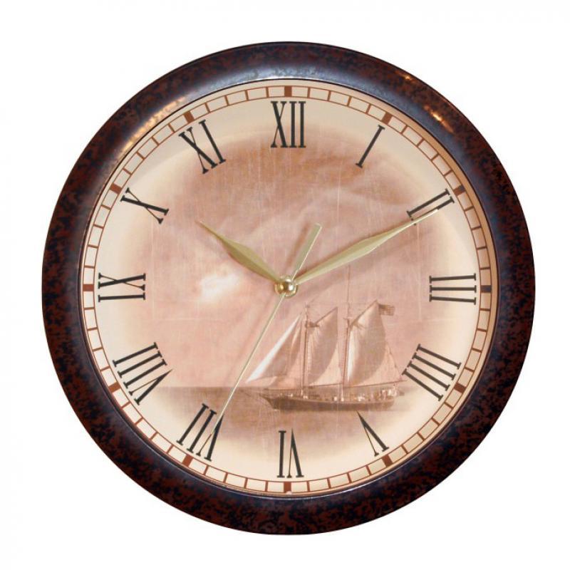 Часы настенные Вега Парусник, цвет: бежевыйП1-962/7-8