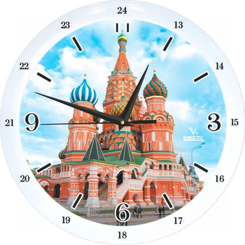 Часы настенные Вега Храм Василия БлаженногоП1-7619/7-78