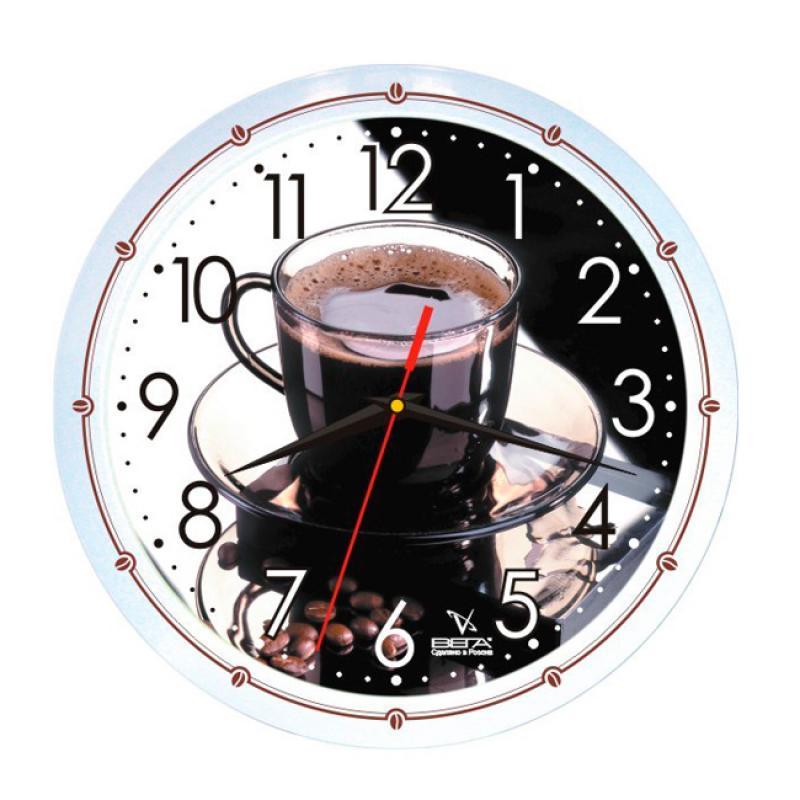 Часы настенные Вега Кофе42П1-7914/7-42