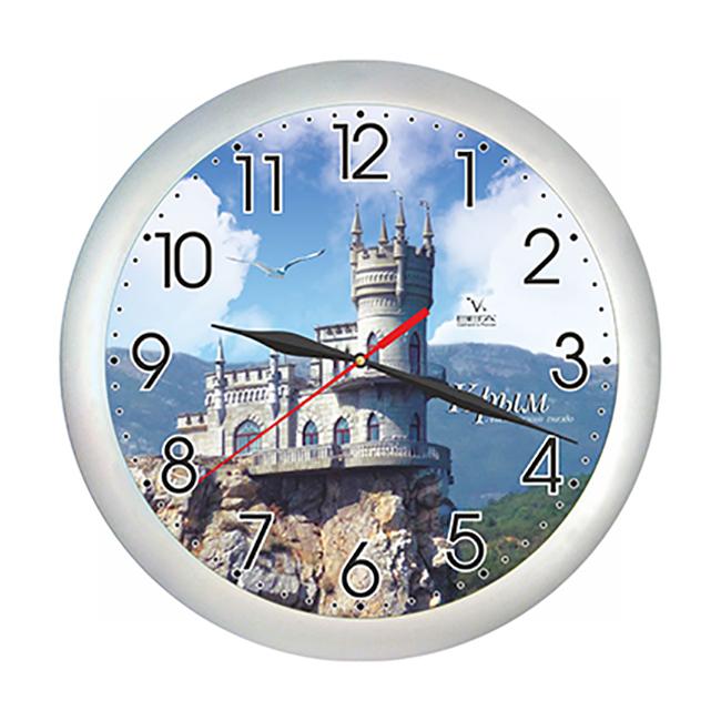 Часы настенные Вега Крым. Ласточкино гнездоП1-серебро/7-221