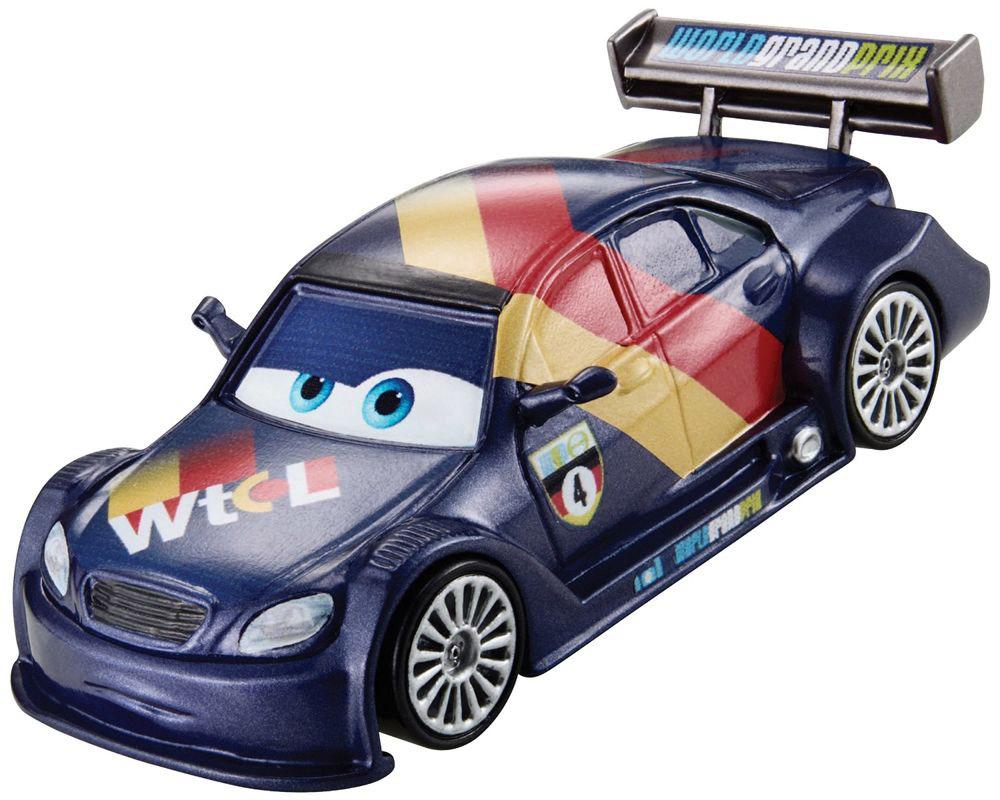Cars Машинка Макс ШнельW1938_BHP03Машинка Cars Макс Шнель станет отличным подарком для ребенка в возрасте от 3 лет. Модель выполнена в виде гоночного автомобиля из мультфильма Тачки. Литой кузов выполнен в темно-фиолетовом цвете. На крыше и дверках расположено изображение флага. На лобовое стекло машинки нанесен рисунок в виде больших прищуренных глаз. Машина Макс Шнель вызовет массу восторга у поклонников диснеевского мультфильма об автомобильном мире. Макс Шнель представлял Германию на Мировом Гран-при. В Токио он был третьим гонщиком, которого подстрелили камерой. В Порто-Корса столкнулся с остальными гонщиками. Как и все участвовал в гонке в Радиатор-Спрингс.