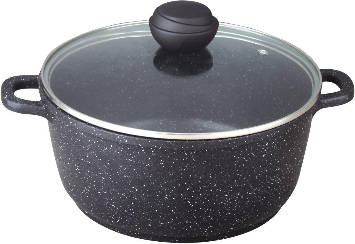 Кастрюля Bekker, 6,0 л. BK-1107BK-11076,0 л. Кастрюля со стеклянной крышкой. Диаметр 28см, высота 12,5см, толщина стенки 2,0мм, дна 4,5мм. Внутри антипригарное черное мраморное покрытие, снаружи жаропрочное черное мраморное покрытие. Ручки крышки с силиконовым покрытием, ручки кастрюли из литого алюминия. Подходит для индукц.плит и чистки в посудомоечной машине. Состав: литой алюминий.